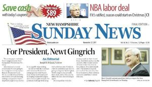 Union Leader Endorses Gingrich 1