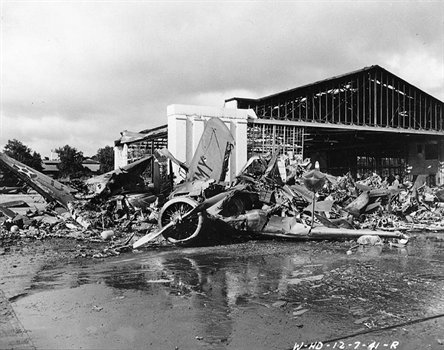 U.S. Army aircraft lay destroyed